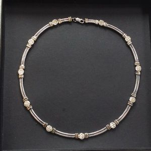 Sterling Silver with Diamonds Necklace